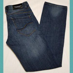 Indicode Dark Wash Mid Rise Straight Leg Jeans